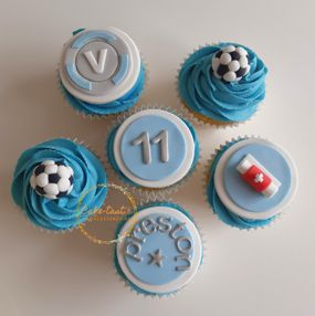 Fortnite and Football Cupcakes