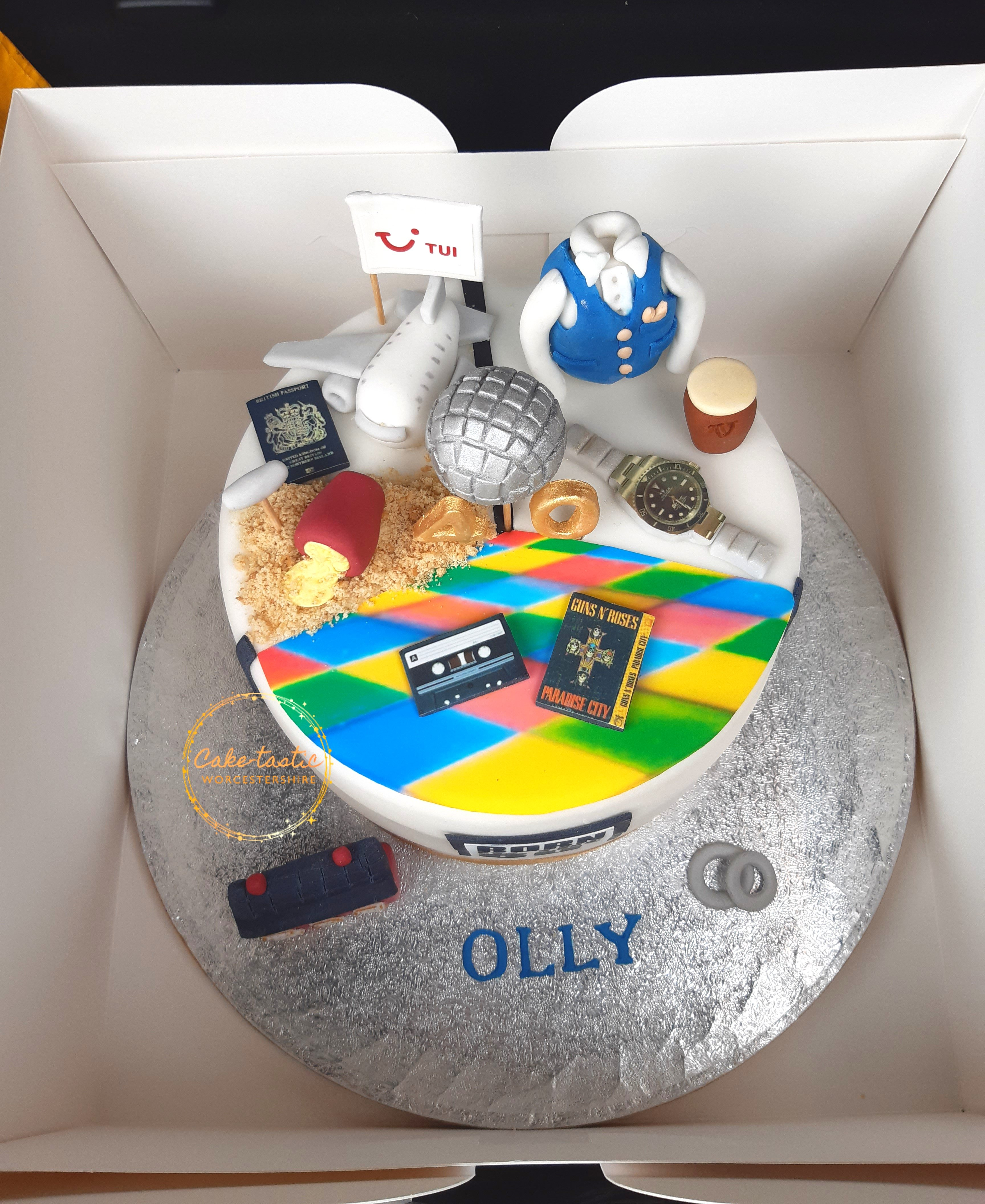 40th Birthday Cake - My Life in Cake