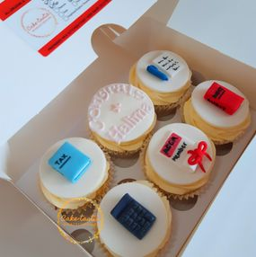 Accountancy themed Cupcakes