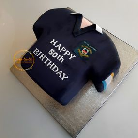 Rugby Shirt Cake