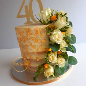 Semi Naked Cake with Flowers
